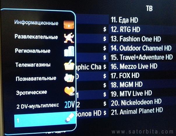 Почему не кажут бесплатные каналы на триколор тв